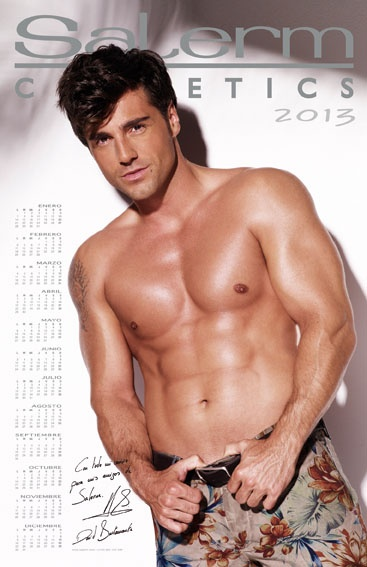 DAVID BUSTAMANTE PROTAGONIZA EL CALENDARIO 2013 DE SALERM COSMETICS